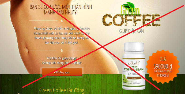 web ban hang Green Coffee lua dao