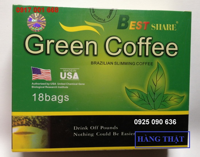 Phân biệt cà phê Green Coffee thật giả