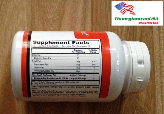 Viên uống giảm mỡ bụng CLA No 4, Cla Số 4 là sản phẩm chuyên giảm mỡ bụng của Mỹ