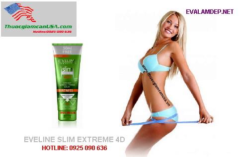 Eveline Slim Extreme 4D, Kem tan mỡ cực kỳ hiệu quả