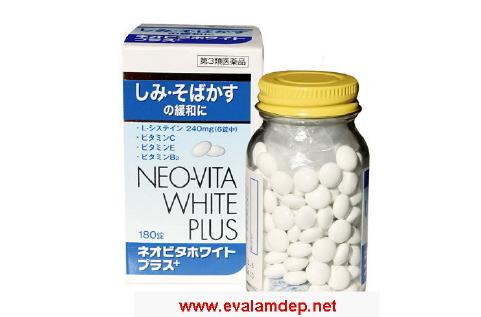 NEO-VITA White Plus - Viên trị nám da, đốm nâu, giúp trắng sáng, chống lão hóa