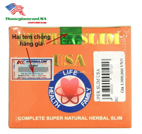 Super Slim USA, Viên Giảm Cân Chính Hãng Của Mỹ