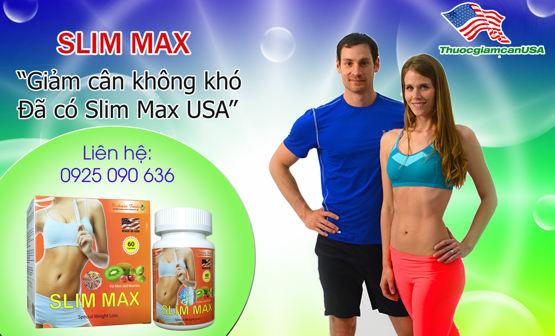 Viên giảm cân Slim Max chính hãng từ USA cho người khó giảm cân